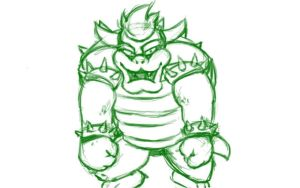Bowser Sketch by emotheferret