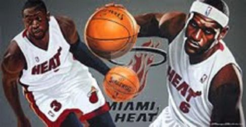 MIAMI HEAT 2013 LEBRON JAMES with DWAYNE WADE by DONWEN