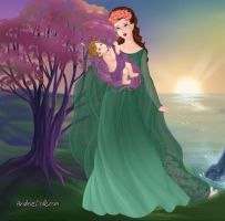 Demeter and Baby Persephone by LadyIlona1984