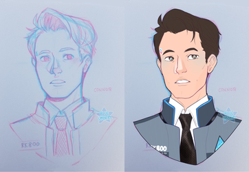 DBH: Connor by Usagiko-JOvi