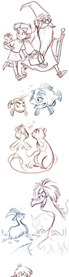 Sword in the Stone Sketches by sharkie19