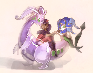 Goodra Ride by Shattered-Earth