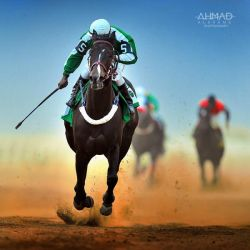 Horse racing by ahmed-Alsheme