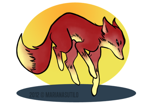 Fire Fox by MarianaDS