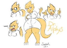~Dr. Alphys~ by MehDrawings