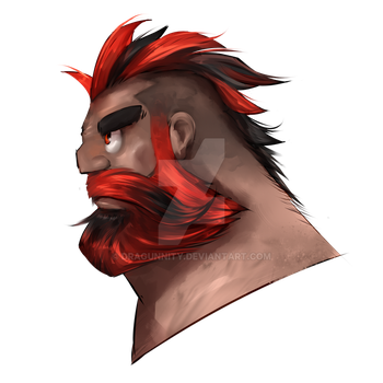 Red Mohawk and Beard by Dragunnity