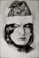 Snape's Christmas by EQzazart
