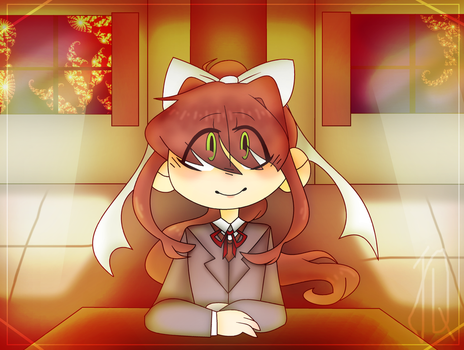 Monika art trade with chromatic Aviator by TheCatQueen10