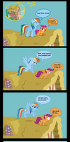 Scootaloo Learns to Fly by Maiximillion3564