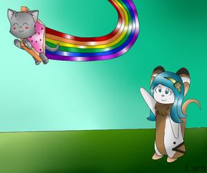 OMG ! It's Nyan Cat ?! by LarraLy