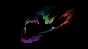 Rainbow Dash Silhouette Wallpaper by Chadbeats