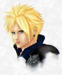Cloud Strife portrait by TifaxxLockhart