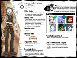 Marcus Bloodstone Bio by Amythest621