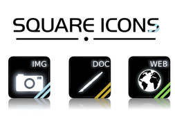 SQUARE ICONS _preview_ by Mandarancio