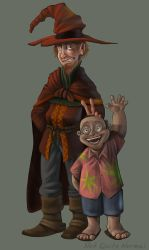 Rincewind and Twoflower by Not-Quite-Normal