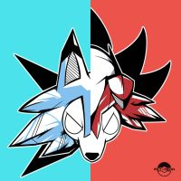 Lycanroc Split by rey-menn