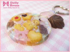 Cute Sweets keychain by Dolly House by SweetDollyHouse