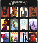 2015 Summary of Art by kyoukorpse