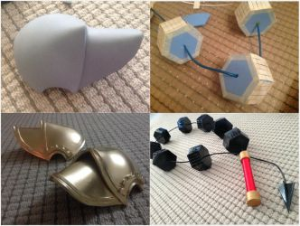 Final Fantasy Type-0 Seven's Pauldron and Weapon by Fantalusy
