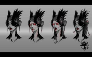 Crow lady concept art by Fenrir--the-2nd
