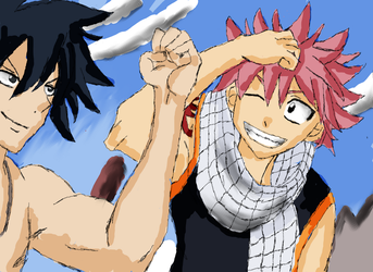 Natsu and Gray by lulujweston