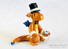 Dapper Dragon with Pocket Watch by HowManyDragons