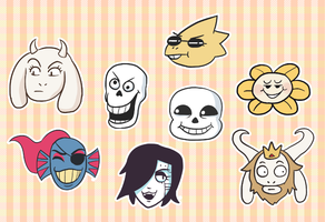 Undertale faces by jennyjams