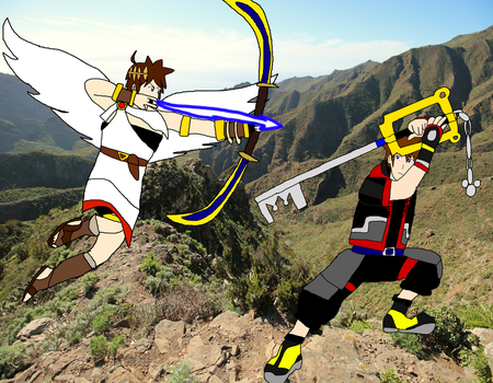 Sora vs Pit by LeoStar0012