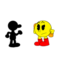 Pac-Man meets Mr. Game and Watch by MarcosPower1996