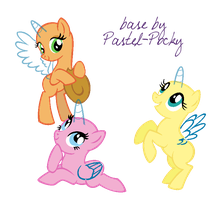 Horses and stuff dunno - MLP Base by Pastel-Pocky