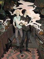 Ty and Kit at the Shadow Market by bluefooted