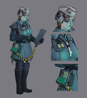 Fleet Communication Officer - Ashen Shrike by MistyMiasma