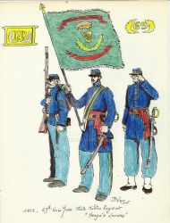69th NYSM Rgt Meagen Zouaves - USA ACW 1861 by Stcyr74