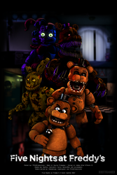 FNaF Franchise Poster by TF541Productions
