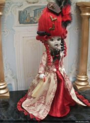 living dead doll custom marie antoinette by Rach-Hells-Dollhaus