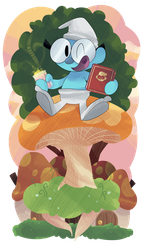 Commission- Brainy Smurf by KrystalFleming