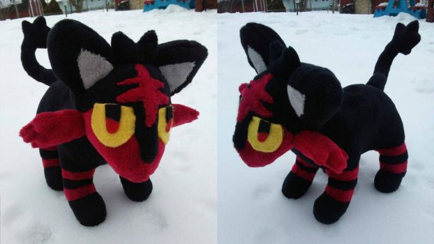 Hand Sewn Litten Plush by Misswd