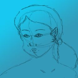 Female Face sketch by 4thWarmasterKais