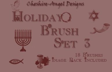 Holiday Brush Set 3 by Cheshire-Angel