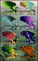 RainWing Adopt 3-4-17 [ALL SOLD] by xTheDragonRebornx