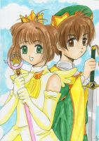 Sakura and Syaoran by Tamao