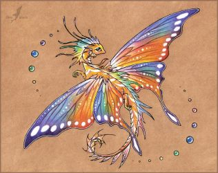 Tropical butterfly dragon -tattoo design by AlviaAlcedo