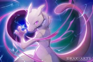 Mewtwo by Drak-Arts