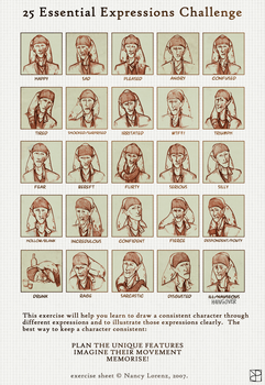 25 Expressions Challenge by ViolletCZ