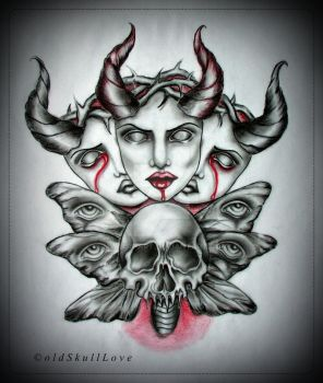 THORNS tattoo design