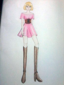 Pink Dress by fitanina