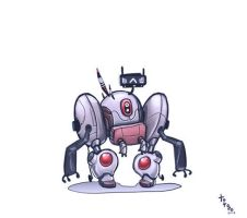 little evil robot by TOTOPO