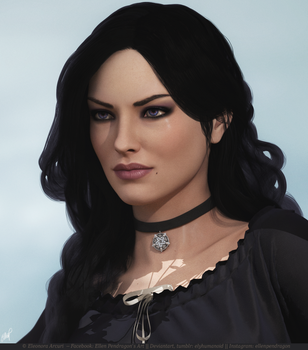 Yennefer (close-up) by elyhumanoid