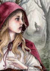 ACEO Red Riding Hood by Achen089