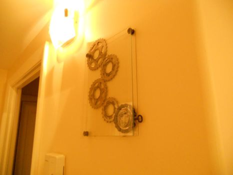 New Wall Abstract Pic C (actually on the wall now) by davesbikeartstuff